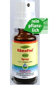 HämoFrei ®  Spray  - statt Hämorrhoiden-Salbe